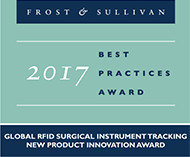 Xerafy's RFID Surgical Instrument Tracking recognized with Frost & Sullivan's 2017 Global New Product Innovation Award
